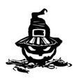 halloween pumpkin evil laughing vector image vector image