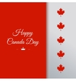happy canada day 1st july celebration card vector image
