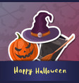 happy halloween party cartoon poster vector image