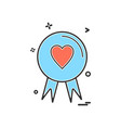 heart badge icon design vector image