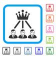 hierarchy men framed dolor icon vector image vector image