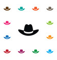 isolated gaucho icon cowboy element can be vector image vector image