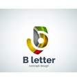 letter concept logo template vector image