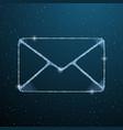 mail wireframe mesh symbol digital email letter vector image