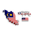 malaysia 3d vector image
