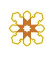 mandala classic cross geometric symbol graphic vector image