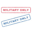 military only textile stamps vector image vector image