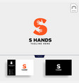 minimal s letter initial hand logo template icon vector image