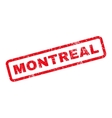 Montreal Rubber Stamp vector image