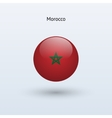 Morocco round flag vector image