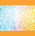 orange blue mosaic pattern vector image vector image