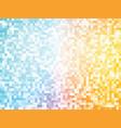 orange blue mosaic pattern vector image