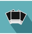 Photo frames icon flat style