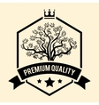 Premium Quality badge or label for Olive Oil vector image vector image
