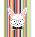 Rabbit Head with Glasses vector image vector image