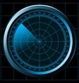radar screen sonar vector image vector image