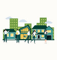 real estate property purchase and mortgage vector image