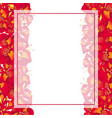 red canna lily banner card border vector image vector image