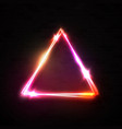 red pink neon abstract triangle background vector image vector image