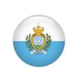 san marino flag on button vector image