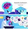 science abstract colorful banners vector image