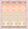 Seamless colorful aztec geometric pattern vector image