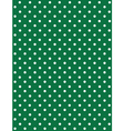 Seamless Dot Pattern White Dots on Green vector image