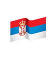 serbia flag vector image vector image
