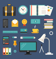 Set of Icons and in Flat Design Style Business vector image vector image