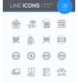 shopping - modern colorful icons set vector image vector image