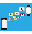 Smart watch smart phone vector image