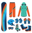 snowboard Extreme winter sports vector image