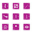 sport carcass icons set grunge style vector image vector image