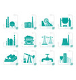 stylized heavy industry icons vector image vector image