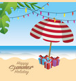 summer merry christmas holidays vacation vector image vector image