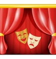 Theatre masks background vector image
