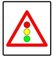 traffic lights sign vector image vector image