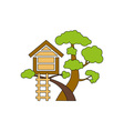 Tree-House-380x400 vector image vector image