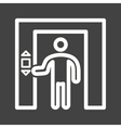 Using Elevator vector image vector image