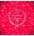valentine crystal wreath vector image vector image