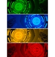 vector abstract banners vector image vector image