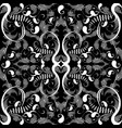 vintage black and white paisley seamless pattern vector image vector image