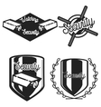 Vintage security emblems vector image vector image