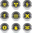 Warning icons vector image