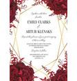 wedding floral invite invitation card design wate vector image vector image