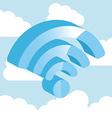 wifi zone design vector image vector image
