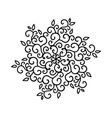 winter snowflake holiday element black snowflake vector image vector image