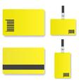 Blank yellow id card vector image