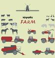 Infographics on a theme farm vector image