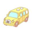 A view of school bus vector image vector image